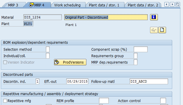 SAP Discontinued Parts – Material Master and BOM | PortSAP