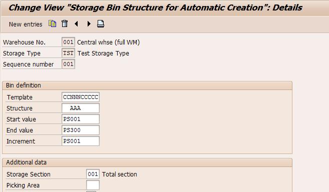 SAP Warehouse Management – Auto BIN Creation – LS10 and LS05
